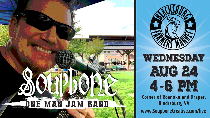 Soupbone plays Blacksburg Farmers Market