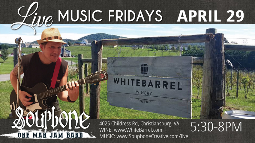 Soupbone plays White Barrel Winery